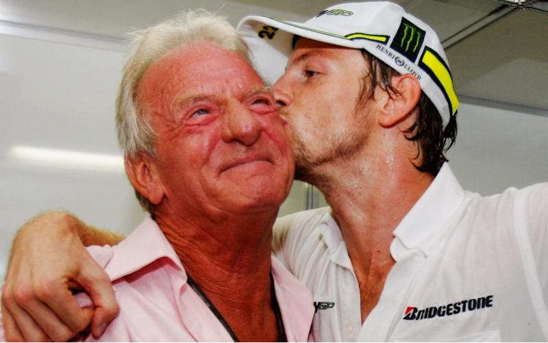 Jenson Button and his dad - Getty Images Sport