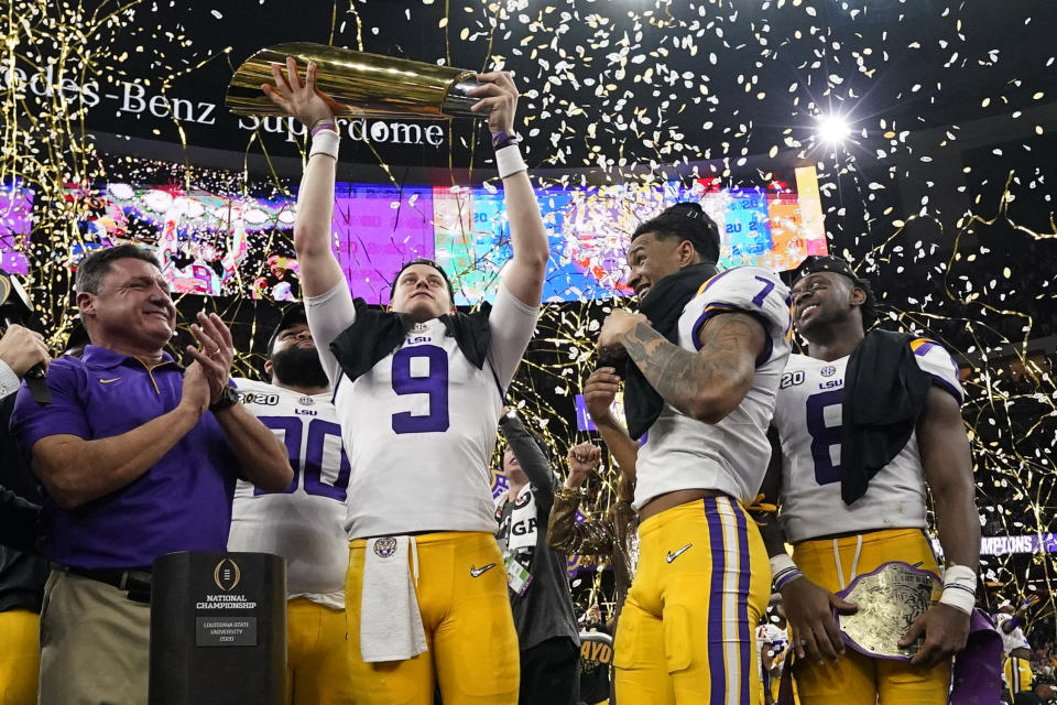 Common sense prevailed after a cop reportedly threatened to arrest LSU players for smoking cigars. (AP Photo/David J. Phillip)