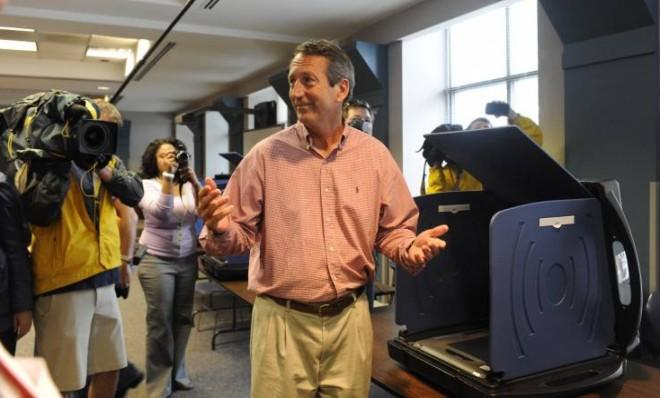 Mark Sanford (R), seen here casting his vote, won a special election to represent South Carolina's 1st Congressional District.