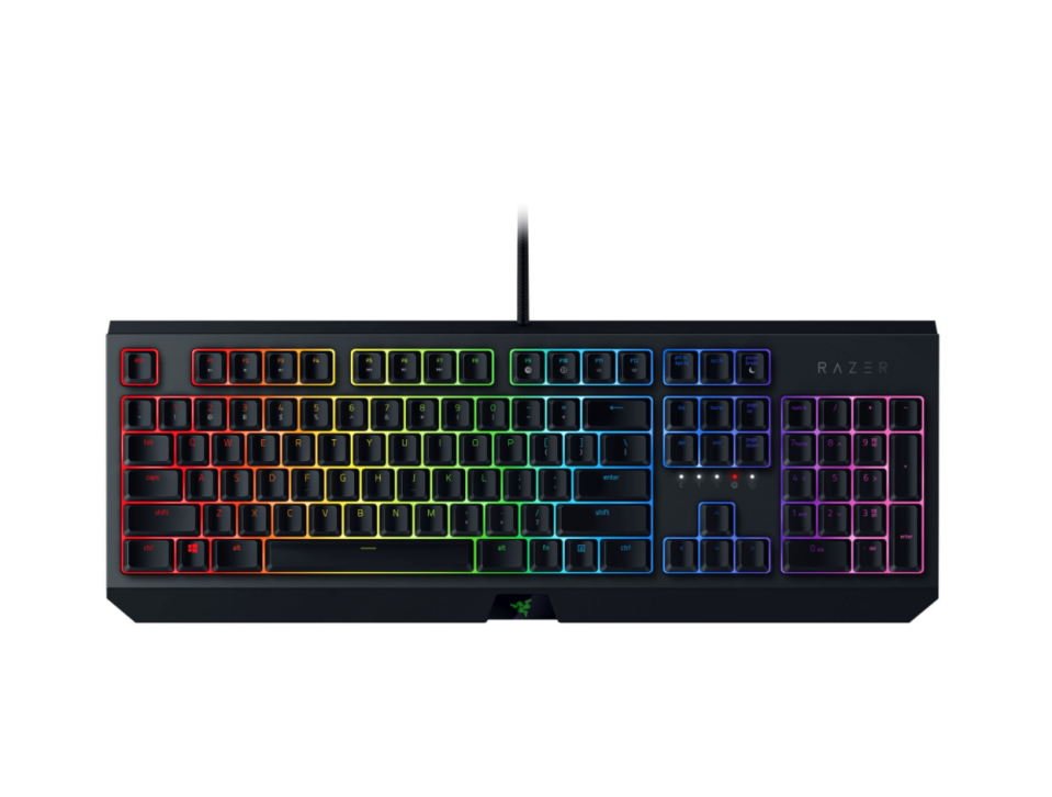 Razer BlackWidow Mechanical Green Switch Gaming Keyboard. Image via Best Buy.