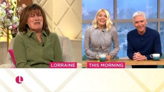 Lorraine was expecting some 'decorum' from Holly and Phil after Ross King's segment (ITV)