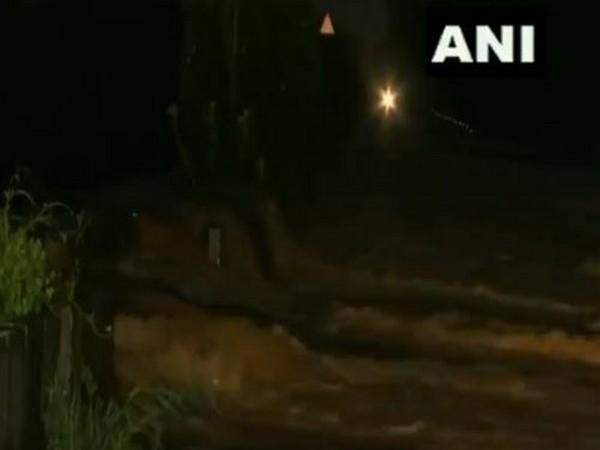 Flood water enters roads and fields, submerging many areas of Sangli district in Maharashtra (Photo/ANI)