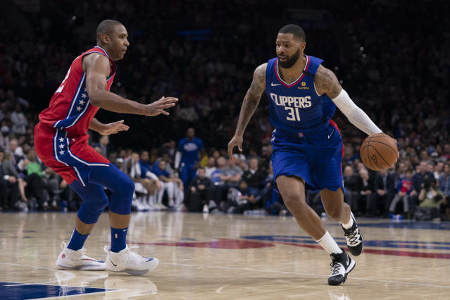 Al Horford and Marcus Morris could be keys to their teams meeting in the NBA Finals. (Mitchell Leff/Getty Images)