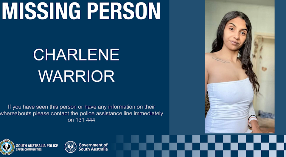 Charlene Warrior had been missing since September 18. Source: South Australia Police