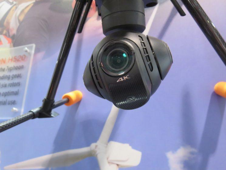 A drone camera at CES 2017.