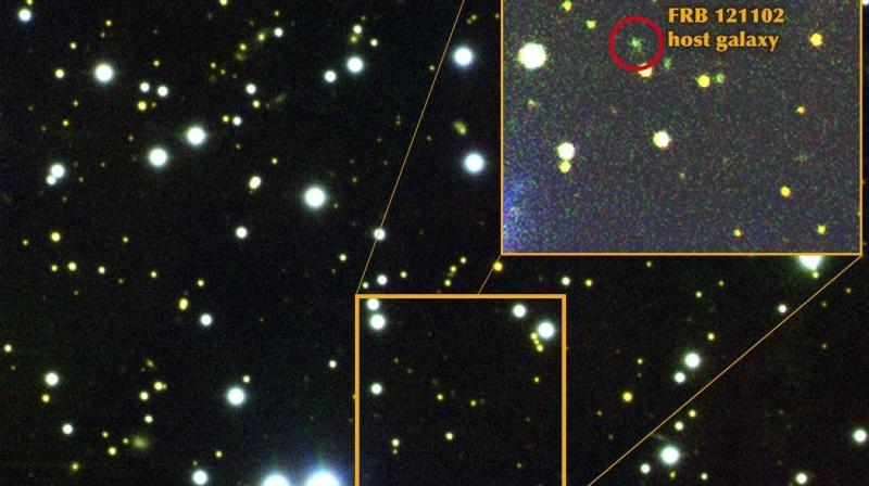 An initiative set up to find signs of intelligent life in the universe has detected a series of mysterious radio signals from a dwarf galaxy 3 billion light years away.