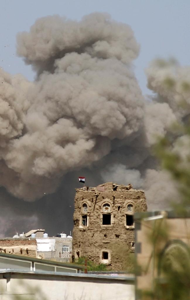 A Saudi-led coalition launched an air war on Huthi Shiite rebels in Yemen in late March 2015 but denies it was behind an attack on a wedding near the Red Sea city of Mokha that left at least 131 people dead (AFP Photo/Mohammed Huwais)
