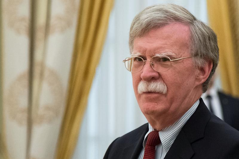 White House national security adviser John Bolton claimed that new indictments of 12 Russians inspecial counsel Robert Mueller's probe strengthen Donald Trump's hand with Vladimir Putin.