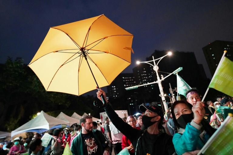 Ahead of the elections, Hong Kongers have become an increasingly common sight at incumbent Tsai Ing-wen's rallies