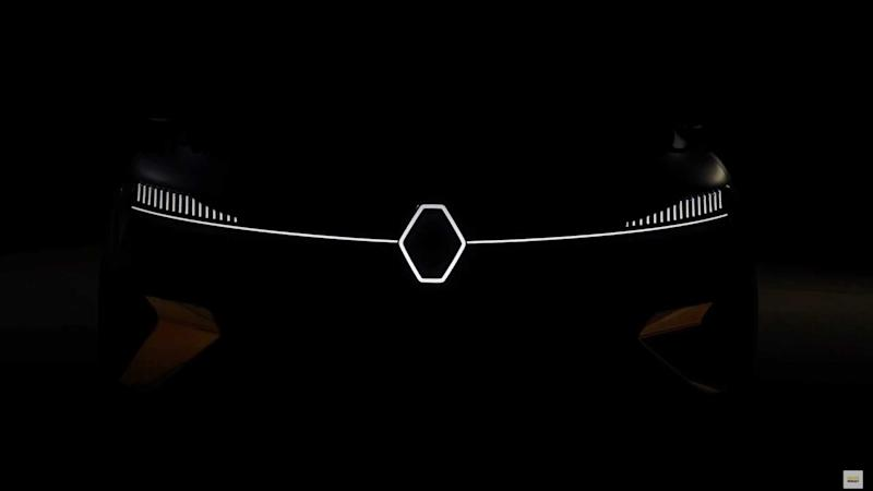 Renault new all-electric crossover concept teaser