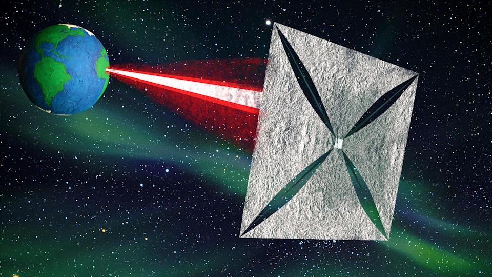 Human space projects, such as Professor Stephen Hawking's 'Breakthrough Starshot' project, have proposed sending a spacecraft to Alpha Centauri in 20 years using similar technology