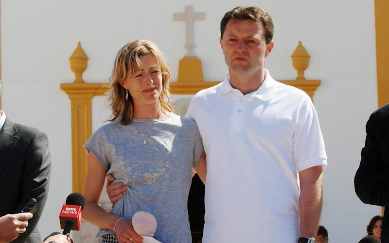 Kate and Gerry McCann in the aftermath of their daughter's disappearance - Eddie Mulholland