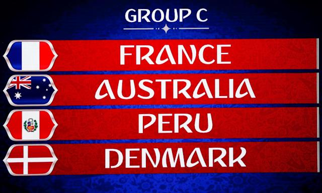 The Socceroos have drawn France, Peru and Denmark in Group C for the 2018 World Cup in Russia.