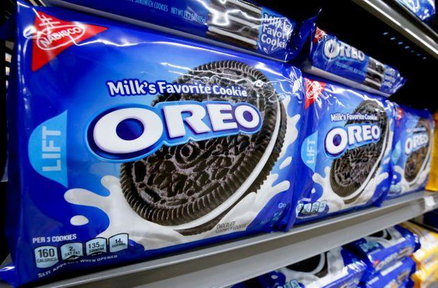 Packages of Oreo cookies line a shelf in a market in Pittsburgh on Aug. 8, 2018. (Photo: Gene J. Puskar via Associated Press)
