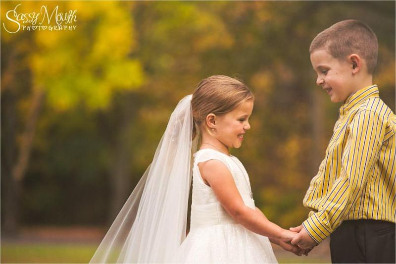 She met Hunter in preschool when she was three. Photo: Sassy Mouth Photo