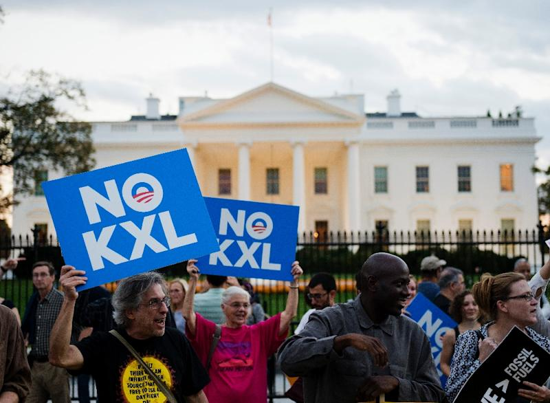 One swift action President-elect Donald Trump could take once in office would be granting State Department approval to move ahead with the Keystone XL pipeline (AFP Photo/Andrew Caballero-Reynolds)