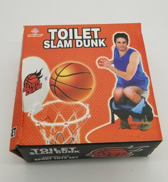 <p>The <span>Toilet Slam Dunk Basketball Set</span> ($18) is perfect for dads always chilling in the bathroom. </p>