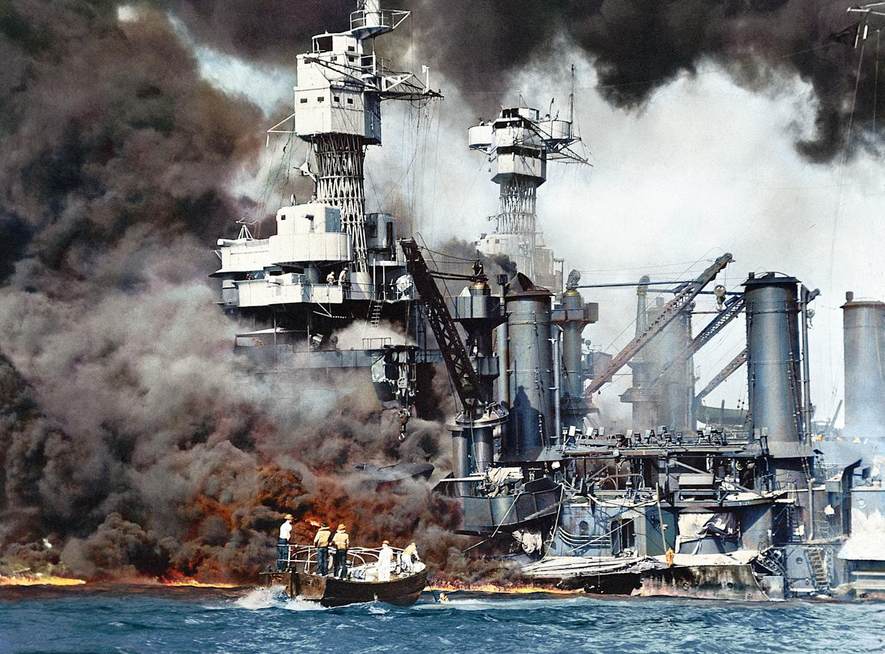 <p>The devastating attack on Pearl Harbour, Hawaii, by Japanese aircraft on US naval ships in December 1941 (Head of Zeus Books). </p>