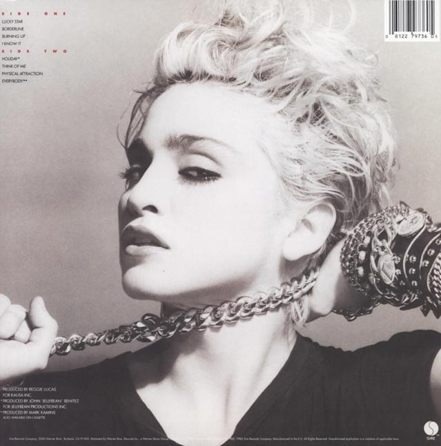 The back cover of <em>Madonna</em>. (Photo: Sire Records)