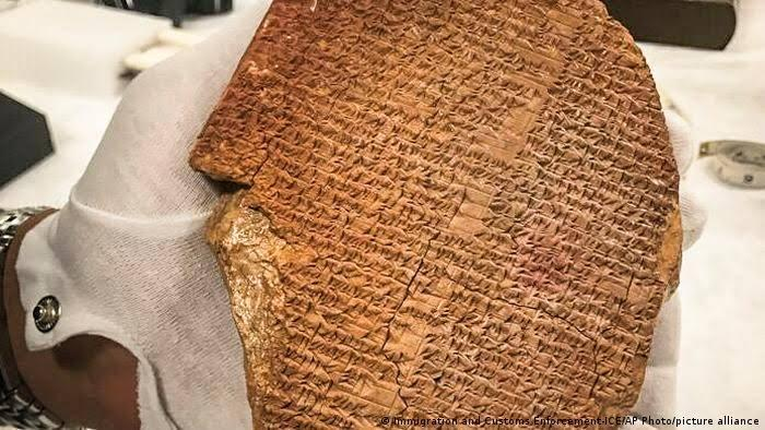 The US to return 3500-yr-old 'Gilgamesh Dream Tablet' to Iraq