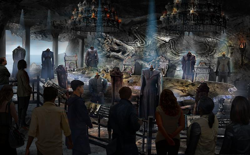 Concept art for the Game of Thrones tour: The Dragonstone Map Room (HBO)