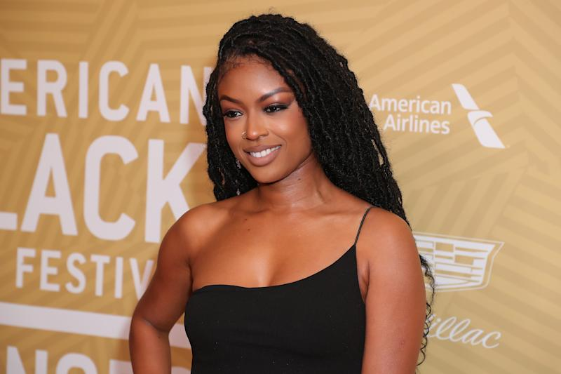Javicia Leslie attends American Black Film Festival Honors Awards Ceremony on February 23, 2020. (Photo by Leon Bennett/WireImage)