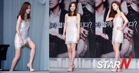 Hong Soohyun draws people's attention in a mini dress