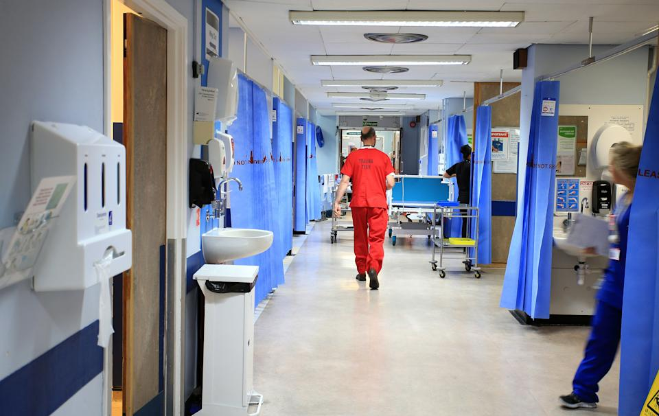 Patients in hospital with coronavirus have fallen significantly since the start of the year. (PA)
