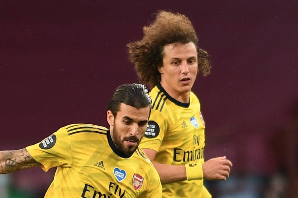 <p>Arsenal duo Dani Ceballos and David Luiz were reported to have had a bust-up in training at London Colney</p> (Arsenal FC via Getty Images)