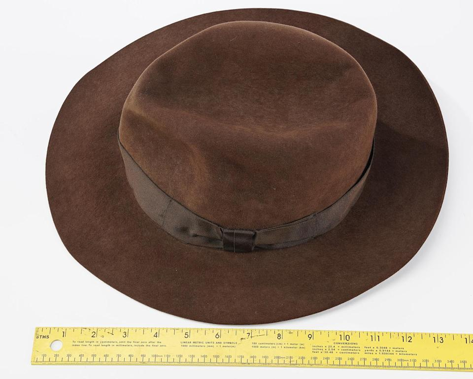 Indiana Jones' (Harrison Ford) Fedora from Temple of Doom (1984) sold for $375,000 (£270.7k) (Prop Store)