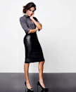 """<p>Meghan recently collaborated with Canadian retailer <a href=""""http://www.reitmans.com/en/meghan_markle"""" rel=""""nofollow noopener"""" target=""""_blank"""" data-ylk=""""slk:Reitmans"""" class=""""link rapid-noclick-resp"""">Reitmans</a> on a five-piece workwear collection featuring leather pencil skirts and easy-to-wear shirts.</p><p><i>[Photo: Instagram/meghanmarkle]</i></p>"""