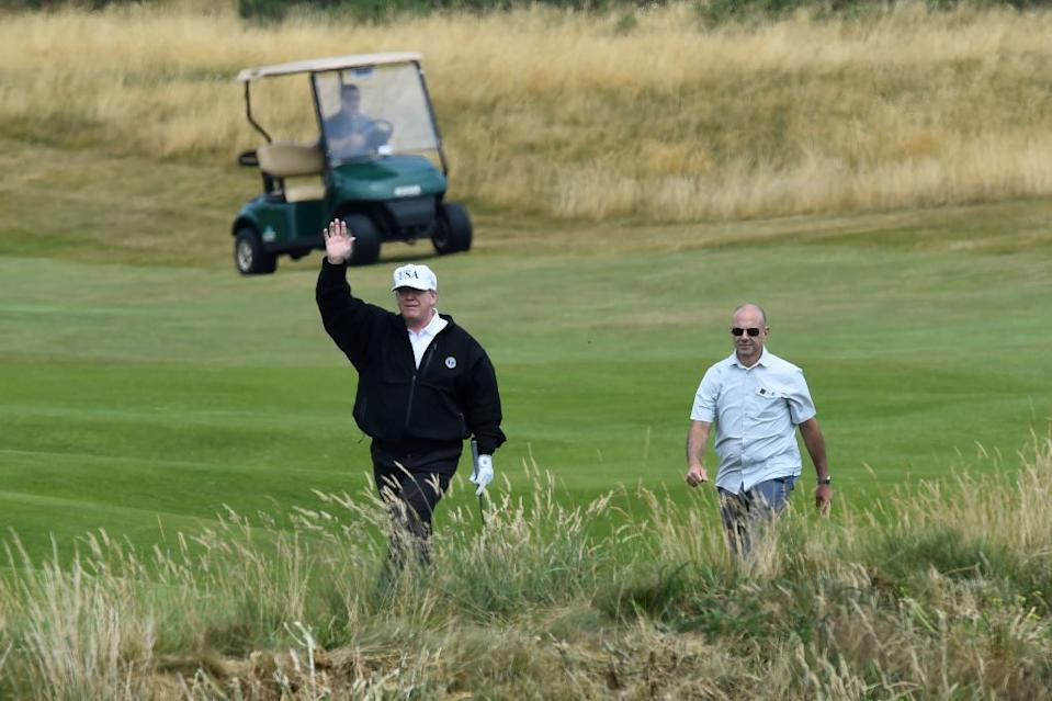 President Trump at Turnberry in 2018. (Getty)