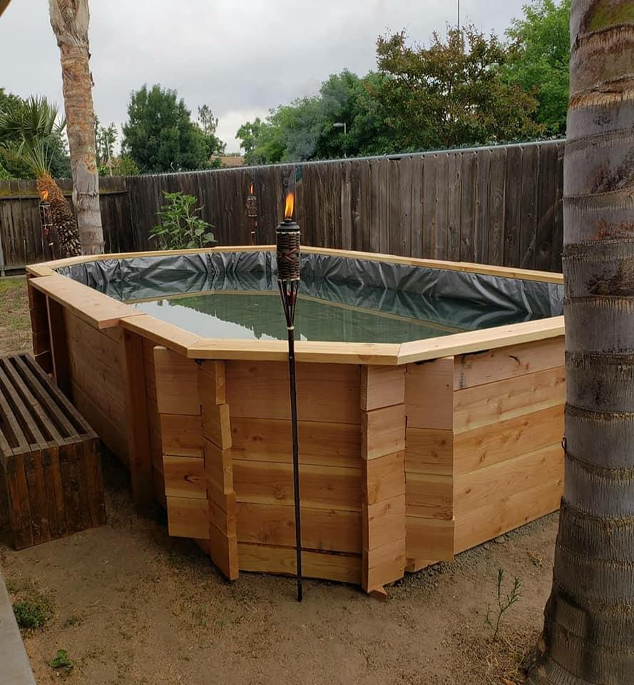 Pool that Mitchell Couch built in his family's backyard. (Photo: Janessa Couch)