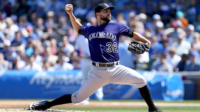 Chatwood had an 8-15 record with a 4.69 ERA with the Rockies in 2017.