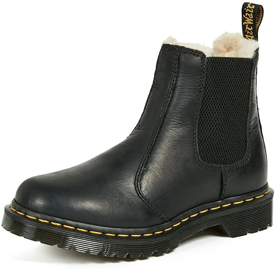 <p>Chunky boots are having a moment, and I'm totally here for it. Dr. Martens has been synonymous with this style for years, so I'm ready to pick up these <span>2976 Leonore Chelsea Boots</span> ($160). (Psst . . . the plush lining will make them perfect for the colder months.)</p>