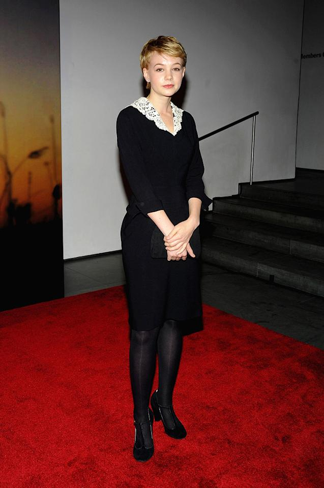 """<a href=""""http://movies.yahoo.com/movie/contributor/1808686699"""">Carey Mulligan</a> at the MoMa Film benefit gala honoring Baz Luhrmann in New York - 11/10/2008"""