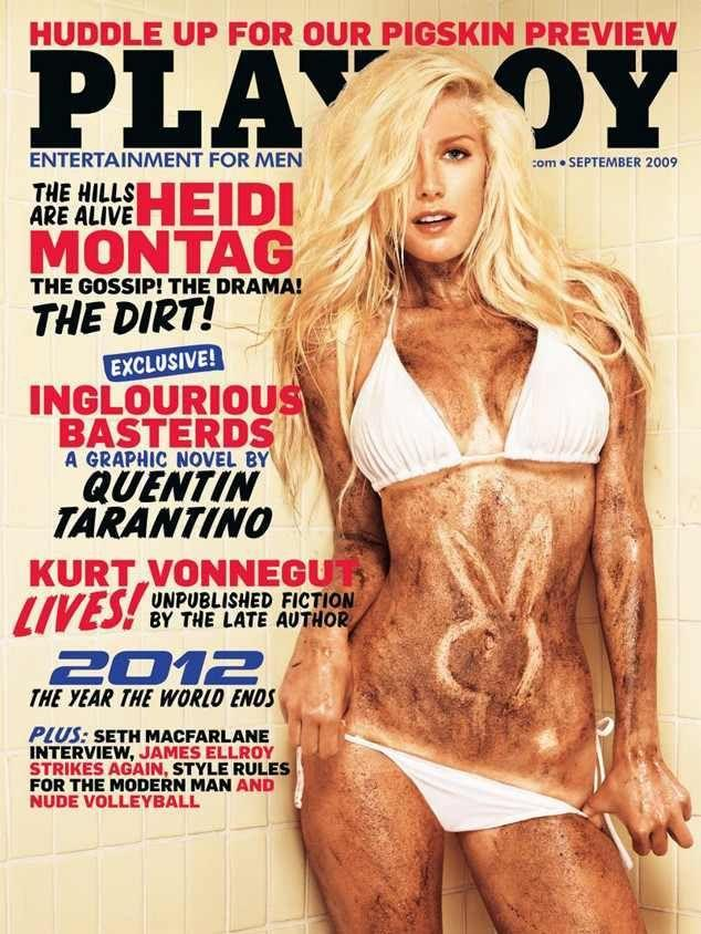 <p><strong>Issue: </strong>September 2009</p><p>Heidi Montag got dirrrrty in a pure white bikini for her <em>Playboy</em> cover. </p>