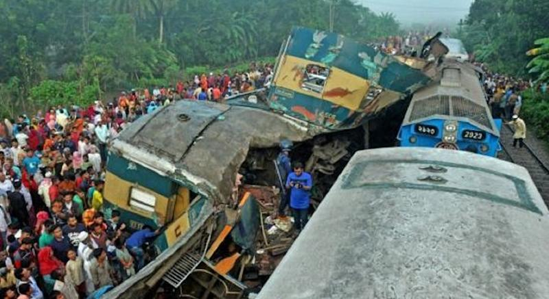 incidente ferroviario in Bangladesh