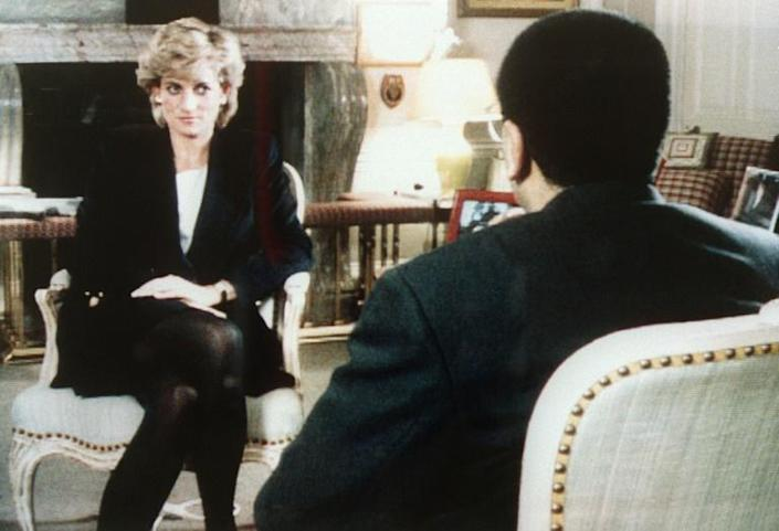 Diana's 1995 interview with Martin Bashir on the BBC Panorama programme saw her admit adultery and also detail her estranged husband Prince Charles' affair with Camilla Parker Bowles (AFP/-)