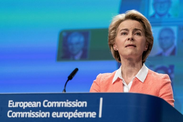 """""""Our European way of life is holding up our values,"""" von der Leyen told journalists"""