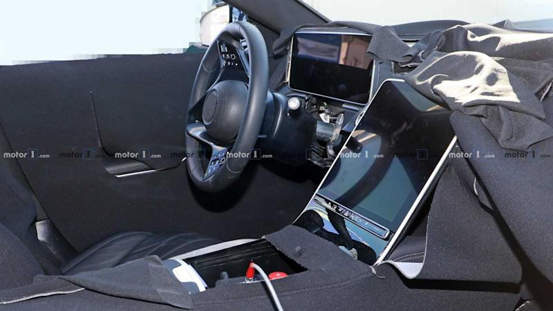 2020 Mercedes S-Class interior spy photo