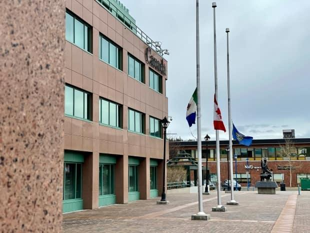 The Yukon government says flags on government buildings will be flown at half-mast for 215 hours.