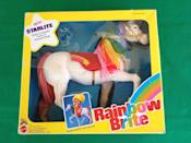 """<p>We still remember the theme song from this animated TV series about Rainbow Brite and her sidekicks the Color Kids, who were in charge of preserving all the color in the world. These days, <a href=""""https://go.redirectingat.com?id=74968X1596630&url=http%3A%2F%2Fwww.ebay.com%2Fsch%2Fi.html%3F_from%3DR40%26_sacat%3D0%26_nkw%3Drainbow%2Bbrite%26_sop%3D16&sref=https%3A%2F%2Fwww.countryliving.com%2Fshopping%2Fantiques%2Fg3141%2Fmost-valuable-toys-from-childhood%2F"""" rel=""""nofollow noopener"""" target=""""_blank"""" data-ylk=""""slk:original Rainbow Brite and Color Kids dolls"""" class=""""link rapid-noclick-resp"""">original Rainbow Brite and Color Kids dolls</a> can sell for around $300, and some accessories, like <a href=""""https://go.redirectingat.com?id=74968X1596630&url=http%3A%2F%2Fwww.ebay.com%2Fitm%2FMIB-2130-VINTAGE-RAINBOW-BRITE-STARLITE-HORSE-HARDBODY-HARD-TO-FIND-MATTEL-%2F151791350957%3Fhash%3Ditem23577834ad%253Ag%253ApEAAAOSwgQ9V0Y5I&sref=https%3A%2F%2Fwww.countryliving.com%2Fshopping%2Fantiques%2Fg3141%2Fmost-valuable-toys-from-childhood%2F"""" rel=""""nofollow noopener"""" target=""""_blank"""" data-ylk=""""slk:Starlite the horse"""" class=""""link rapid-noclick-resp"""">Starlite the horse</a>, are listed for as much as $1,000.</p>"""