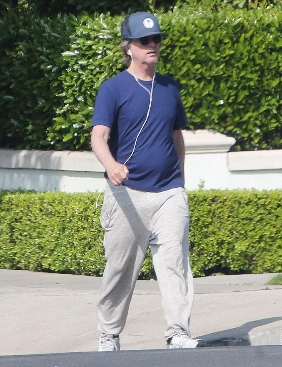 <p>David Spade steps out with his headphones in in Beverly Hills on Thursday, one day after news broke that he'll be hosting the upcoming season of <em>Bachelor in Paradise. </em></p>