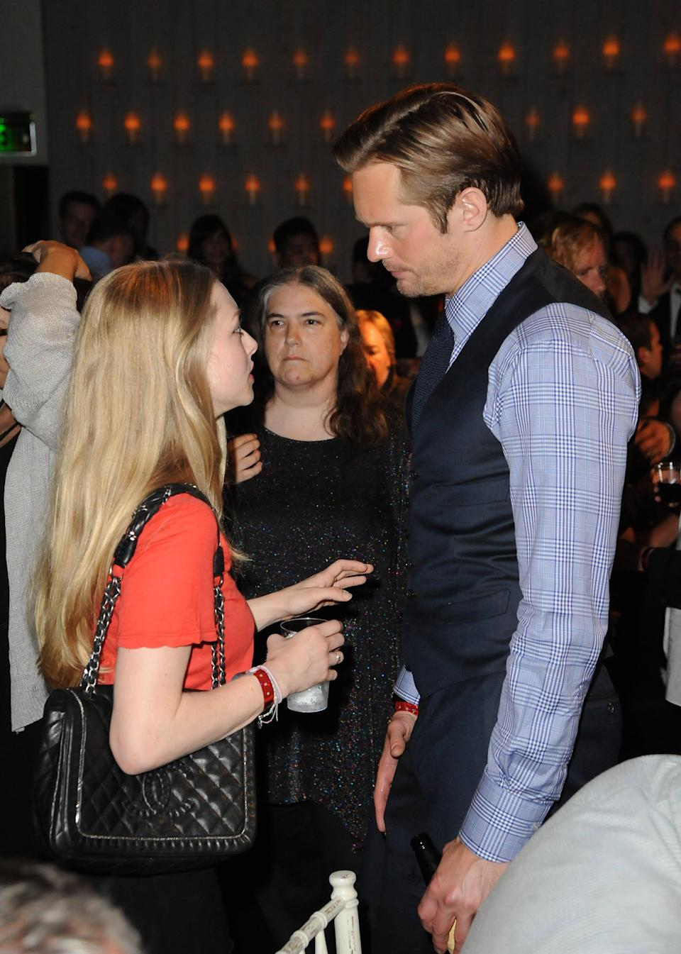 """<p>Back in 2008, Seyfried and Skarsgård briefly dated, but it wasn't until 2011 that Seyfried confirmed the past relationship.</p> <p>""""<a href=""""http://www.accessonline.com/articles/amanda-seyfried-dishes-on-dating-ryan-phillippe-dominic-cooper-alexander-skarsgard-98134"""" class=""""link rapid-noclick-resp"""" rel=""""nofollow noopener"""" target=""""_blank"""" data-ylk=""""slk:We dated"""">We dated</a>. He's super funny, but I was too involved with Dom [<strong>Mamma Mia </strong>costar Dominic Cooper],"""" she told <strong>Elle</strong>, as reported by <strong>Access Hollywood</strong>. <br></p>"""