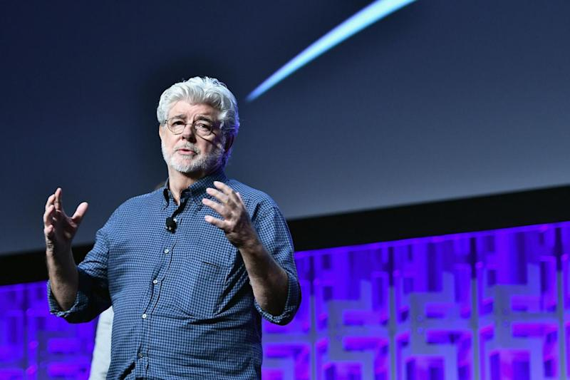 George Lucas attends the Star Wars Celebration day (Getty Images)