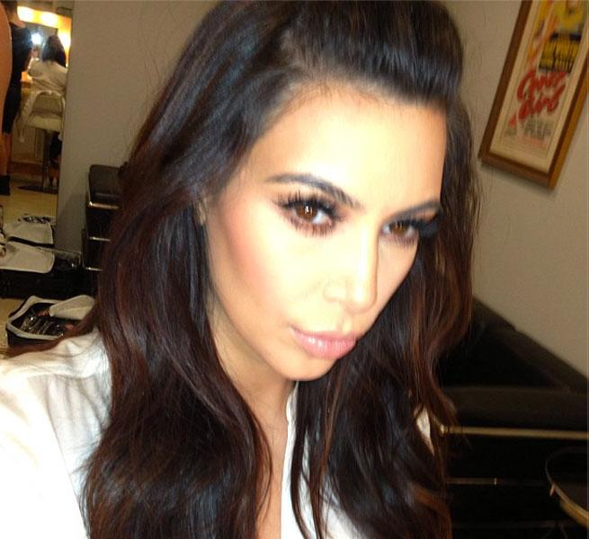 Kim Kardashian's Fringe Is Back! Watch Her Get Her Hair Cut