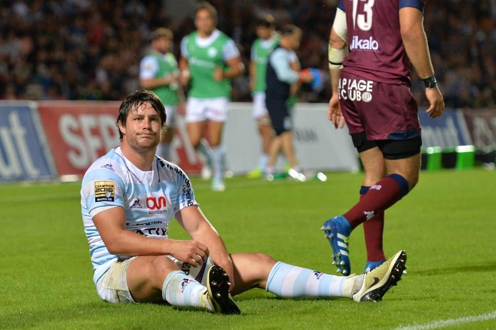 Racing Metro 92 centre Henry Chavancy reacts during their French Top 14 rugby union match against Bordeaux-Begles, at the Chaban-Delmas stadium in Bordeaux, on August 20, 2016 (AFP Photo/Nicolas Tucat)