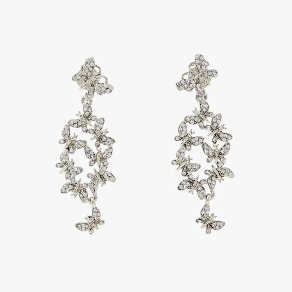 "$350, THE OUTNET. <a href=""https://www.theoutnet.com/en-us/shop/product/oscar-de-la-renta/jewelry/earrings/silver-tone-crystal-earrings/6630340696555458"" rel=""nofollow noopener"" target=""_blank"" data-ylk=""slk:Get it now!"" class=""link rapid-noclick-resp"">Get it now!</a>"