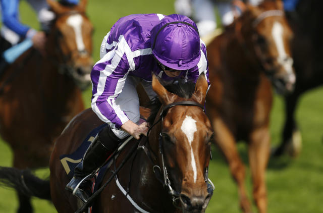 Britain Horse Racing - Royal Ascot - Ascot Racecourse - June 21, 2017 Ryan Moore wins the 4.20 Prince Of Wales' Stakes on Highland Reel Action Images via Reuters / Matthew Childs Livepic